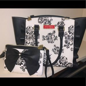 Betsy Johnson Flower Tote and Crossbody DUO!!!